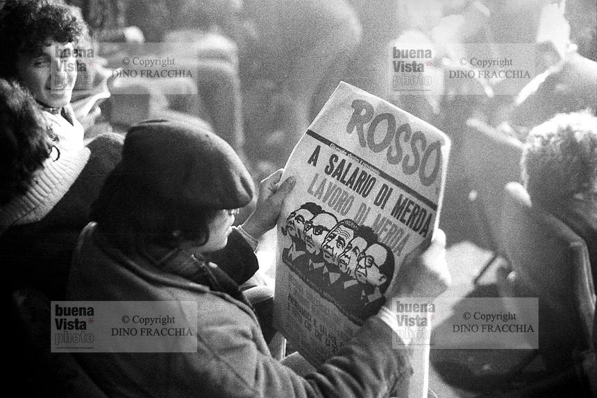 Αποτέλεσμα εικόνας για rosso, giornale, anni '70, autonomia