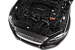 Car Stock 2016 Jaguar XJ Premium Luxury 4 Door Sedan Engine  high angle detail view