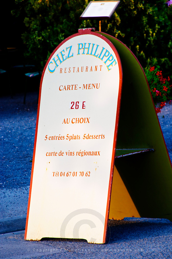 Restaurant Chez Philippe. Marseillan. Languedoc. France. Europe.
