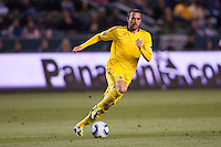 Columbus Crew midfielder Dejan Rusmir (22) chases down a ball. Chivas USA and Columbus Crew played to a 0-0 tie at Home Depot Center stadium in Carson, California on  April  9, 2011....
