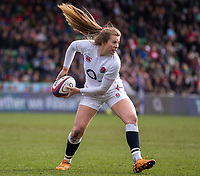 England Women's Zoe Harrison in action during todays match<br /> <br /> Photographer Bob Bradford/CameraSport<br /> <br /> 2020 Women's Six Nations Championship - England v Wales - Saturday 7th March 2020 - The Stoop - London<br /> <br /> World Copyright © 2020 CameraSport. All rights reserved. 43 Linden Ave. Countesthorpe. Leicester. England. LE8 5PG - Tel: +44 (0) 116 277 4147 - admin@camerasport.com - www.camerasport.com