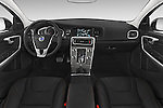 Stock photo of straight dashboard view of 2017 Volvo V60 T5-Cross-Country 5 Door Wagon Dashboard