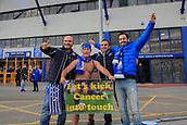 28th September 2017, Goodison Park, Liverpool, England; UEFA Europa League group stage, Everton versus Apollon Limassol; a local charity fund raiser 'Speedo Mick' with the Apollon fans