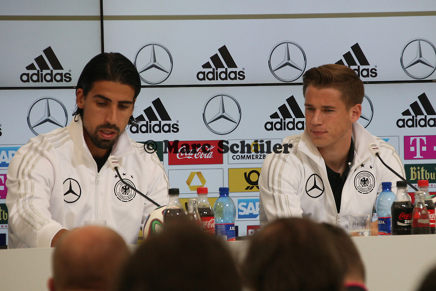 Sami Khedira und Erik Durm - Pressekonferenz der Deutschen Nationalmannschaft  im Rahmen der WM-Vorbereitung in St. Martin
