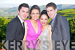 FUN TIIME: Having a fun time at the ISK debs at the Ballyroe Heights hotel on Thursday l-r: Frank Walsh, Maud O'Connor, Amber Shrestha and Brendan Twomey...