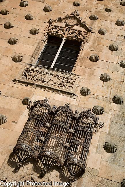 Casa de las Conchas House, Salamanca, Castile and Leon, Spain