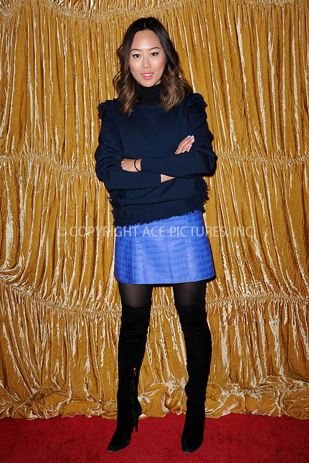 WWW.ACEPIXS.COM<br /> February 16, 2015 New York City<br /> <br /> Aimee Song at the alice + olivia by Stacey Bendet fashion presentation on February 16, 2015 in New York City. <br /> <br /> By Line: Kristin Callahan/ACE Pictures<br /> ACE Pictures, Inc.<br /> tel: 646 769 0430<br /> Email: info@acepixs.com<br /> www.acepixs.com