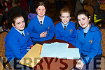 The Presentation National School Tralee, attending the annual Noreen Lynch Credit Union Quiz in the Brandon Hotel on Sunday last. L-r, Clodagh McCluskey, Caoimhe Gorman, Caoilinn Hickey and Ailisha Daughton.
