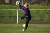 Piscataway, NJ - Wednesday Sept. 07, 2016: Ashlyn Harris prior to a regular season National Women's Soccer League (NWSL) match between Sky Blue FC and the Orlando Pride FC at Yurcak Field.