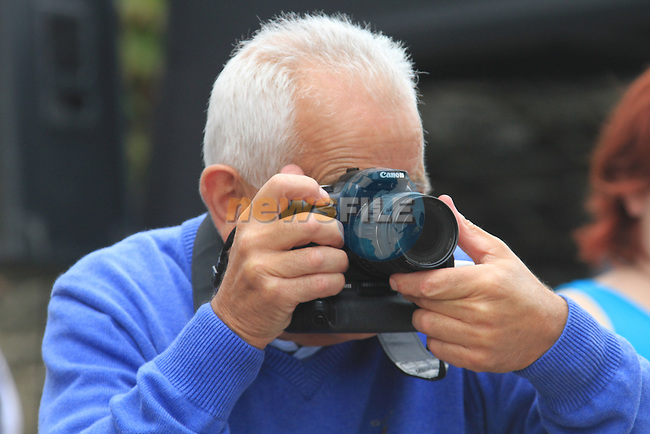 The Handing over of the keys to the old parocial House to the Dunleer community..Man behind the camera Oliver Flanagan.Picture Fran Caffrey www.newsfile.ie