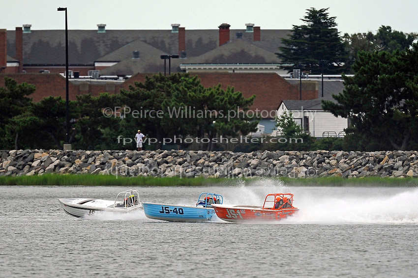 """JS-7 """"Rolling Thunder"""" , JS-40 """"Pacifier"""" and JS-1 """"Summer Storm""""  (Jersey Speed Skiff(s)"""