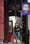 Bagpiper Sean Cummings plays outside the Firkin and Fox on Thursday, March 17, 2011, in Carson City, Nev..Photo by Cathleen Allison