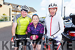 Gerald Kirby (Castleisland), Karen Deenihan (Ballyduff) and Larry Daly (Killorglin) supporting the RNLI Cycling fundraiser at O'Donnells in Mounthawk on Saturday morning.