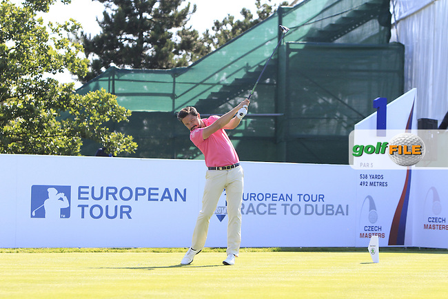 Mike Lorenzo-Vera (FRA) on the 1st tee during Round 2 of the D&amp;D Real Czech Masters 2016 at the Albatross Golf Club, Prague on Friday 19th August 2016.<br /> Picture:  Thos Caffrey / www.golffile.ie<br /> <br /> All photos usage must carry mandatory copyright credit   (&copy; Golffile | Thos Caffrey)