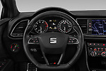 Car pictures of steering wheel view of a 2017 Seat Leon-ST-Cupra - 5 Door Wagon Steering Wheel