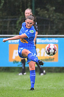 20200819, Sint-Amandsberg , GENT , BELGIUM : Gent's Emma Van Britsom  pictured during a friendly soccer game between KAA Gent ladies and RC Lens ladies in the preparations for the coming season 2020 - 2021 of Belgian Women's SuperLeague and French second division , Wednesday 19 th of August 2020 in JAGO Sint-Amandsberg / Gent, Belgium . PHOTO SPORTPIX.BE | STIJN AUDOOREN
