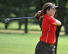 Peyton Greco of Smithtown East tees off on the 17th Hole of Bethpage State Park's Green Course during the varsity girls' golf Long Island team championship against Syosset on Wednesday, June 3, 2015.<br /> <br /> James Escher