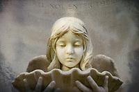 Artistic interpretation of the Baldwin Angel in Bonaventure Cemetery in Savannah, GA