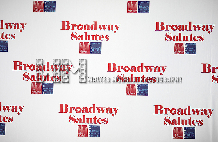 'Broadway Salutes' honoring those who make Broadway Great at the Timers Square Visitors Center in Times Square,  New York City on 9/20/2012.