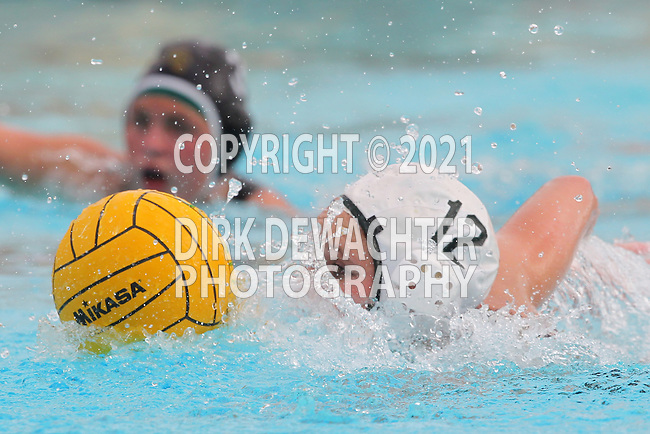 Manhattan Beach, CA 02/16/11 - Alys Williams (Edison #12) in action during the 2011 first round CIF girls waterpolo playoffs between Edison and Mira Costa.