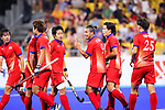 Japan team group (JPN), <br /> SEPTEMBER 1, 2018 - Hockey : <br /> Men's Final match between <br /> Japan 6-6(3-1) Malaysia <br /> at Gelora Bung Karno Hockey Field <br /> during the 2018 Jakarta Palembang Asian Games <br /> in Jakarta, Indonesia. <br /> (Photo by Naoki Nishimura/AFLO SPORT)