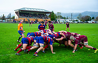 Action from the Horowhenua-Kapiti premier club rugby union match between Shannon and Rahui at Shannon Domain in Shannon, New Zealand on Saturday, 7 July 2018. Photo: Dave Lintott / lintottphoto.co.nz