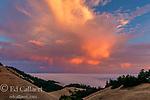 Sunset, Bolinas Ridge, Stinson Beach, Mount Tamalpais State Park, Golden Gate National Recreation Area, Marin County, California