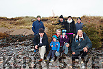 Members of the Maharees Heritage and Conservation group are using old Christmas trees to help protect their coastline which was battered by recent storms. Pictures are: Sean Spillane, Daragh and Eryn with their dad Aidan O'Connor, also pictured are Martin Lynch, Denis Cronin, Trish Browne, Tom Scanlon and Jamie Knox.