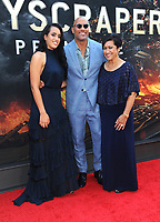NEW YORK, NY - JULY 10: Simone Johnson, Dwayne Johnson and Ata Johnson at the New York Premiere of Skyscraper at AMC Loews Lincoln Square in New York City on July 10, 2018. Credit: John Palmer/MediaPunch<br /> CAP/MPI99<br /> &copy;MPI99/Capital Pictures