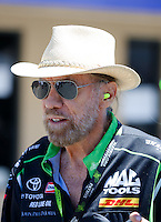 Jul 30, 2016; Sonoma, CA, USA; NHRA sponsor John Paul DeJoria in attendance during qualifying for the Sonoma Nationals at Sonoma Raceway. Mandatory Credit: Mark J. Rebilas-USA TODAY Sports