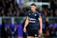 Rhys Priestland of Bath Rugby looks on during a break in play. European Rugby Challenge Cup match, between Bath Rugby and Bristol Rugby on October 20, 2016 at the Recreation Ground in Bath, England. Photo by: Patrick Khachfe / Onside Images