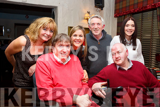 Cllr:Terry O&rsquo;Brien celebrates his birthday with family and friends in Cassidy&rsquo;s Restaurant on Friday night last.<br /> L-r Terry O&rsquo;Brien and Tony Griffin.<br /> Standing l-r, Maureen Fleming, Theresa O&rsquo;Brien, Derry Fleming and Trisha Corcoran.