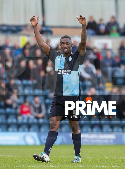 Anthony Stewart of Wycombe Wanderers during the Sky Bet League 2 match between Wycombe Wanderers and Leyton Orient at Adams Park, High Wycombe, England on 23 January 2016. Photo by Andy Rowland / PRiME Media Images.