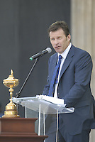 European Team Captain Nick Faldo during the opening ceremony on Practice Day2 of the Ryder Cup at Valhalla Golf Club, Louisville, Kentucky, USA, 18th September 2008 (Photo by Eoin Clarke/GOLFFILE)