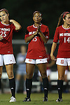 04 September 2015: NC State's Alyson Brown. The North Carolina State University Wolfpack hosted the Oregon University Ducks at Dail Soccer Field in Raleigh, NC in a 2015 NCAA Division I Women's Soccer game. NC State won the game 2-0.