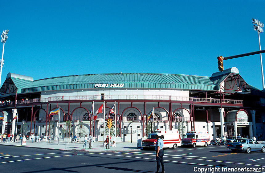 Ballparks: Buffalo, NY. Pilot Field. Helmuth-Obata-Kassebaum, 1988. It had been open for 3 months. Drew 1.2 M that year.