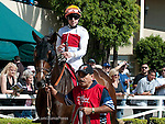 June 18, 2011.miss Match ridden by Joseph Talamo in the Paddock before the Vanity Handicap as Hollywood Park, Inglewood, CA.