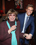 Phyllis Newman, Hunter Ryan Herdicka attending a reception celebrating Hunter's 54 Below debut with 'You Make Me Feel So Young'  in New York City on 3/25/2013