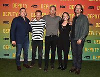 """LOS ANGELES, CA - NOVEMBER 18: Chris Long, Stephen Dorff, Brian Van Holt, Yara Martinez, and David Ayer attend the advanced screening for Fox's """"Deputy"""" at James Blakeley Theater on the Fox Studio Lot on November 18, 2019 in Los Angeles, California. on November 13, 2019 in Los Angeles, California. (Photo by Frank Micelotta/Fox/PictureGroup)"""
