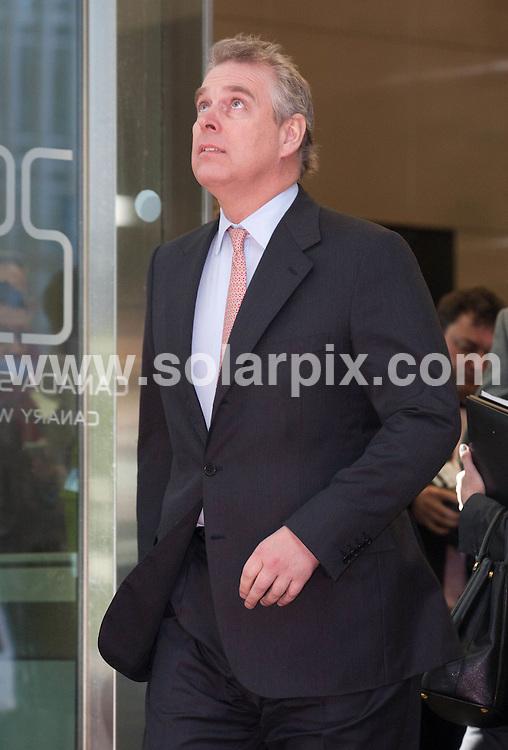 **ALL ROUND PICTURES FROM SOLARPIX.COM**                                             **NO UK NEWSPAPER PUBLICATION**.**UK MAGAZINE & SUPPLEMENT PUBLICATION ONLY** AND NO PUBLICATION IN AUSTRALIA, BELGIUM, FRANCE, GERMANY, ITALY, SCANDINAVIA AND USA**                                                                                  Caption: Prince Andrew , The Duke Of York , arrives at Crossrail  in Canary Wharf, London this afternoon, as part of his role as Special Representative for International Trade and Investment..A spokesman for Prince Andrew has defended the embattled British royal after his alleged links to shamed American billionaire Jeffrey Epstein.                                                                              .This pic: Price Andew Duke of York                                                                                             JOB REF: 12928       SFE       DATE:07.03.2011                                                            **MUST CREDIT SOLARPIX.COM OR DOUBLE FEE WILL BE CHARGED**                                                                      **MUST AGREE FEE BEFORE ONLINE USAGE**                               **CALL US ON: +34 952 811 768 or LOW RATE FROM UK 0844 617 7637**