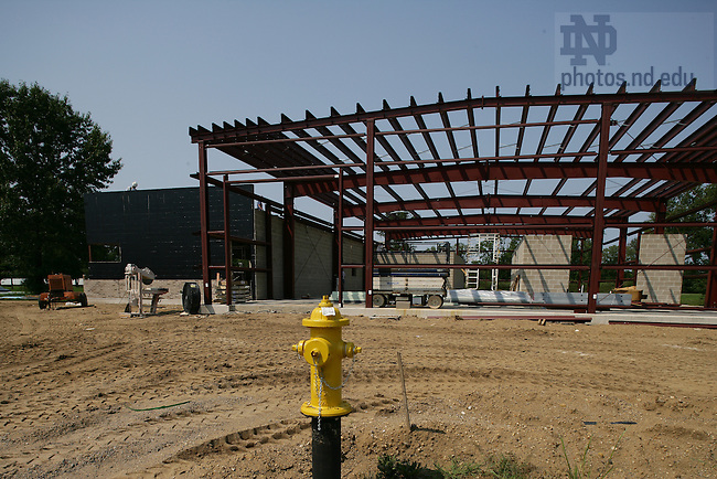 North Field wind tunnel construction