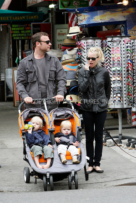 WWW.ACEPIXS.COM . . . . .  ....May 23 2010, New York City....Actor Liev Schreiber and Naomi Watts take their sons Alexander and Samuel for a walk around their Soho neighborhood on May 23 2010n in New York City....Please byline: NANCY RIVERA- ACEPIXS.COM.... *** ***..Ace Pictures, Inc:  ..Tel: 646 769 0430..e-mail: info@acepixs.com..web: http://www.acepixs.com