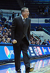 January 20, 2015 - Colorado Springs, Colorado, U.S. -  Air Force head coach, Dave Pilipovich, shouts instructions during a Mountain West Conference match-up between the San Diego State Aztecs and the Air Force Academy Falcons at Clune Arena, U.S. Air Force Academy, Colorado Springs, Colorado.  San Diego State defeats Air Force 77-45.