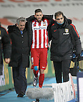 Atletico de Madrid's Yannick Carrasco injured during La Liga match. February 14,2016. (ALTERPHOTOS/Acero)