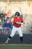 Evan Skoug (11) of the Kannapolis Intimidators at bat against the Lakewood BlueClaws at Kannapolis Intimidators Stadium on April 5, 2018 in Kannapolis, North Carolina.  The Intimidators defeated the BlueClaws 4-3.  (Brian Westerholt/Four Seam Images)