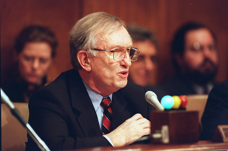 3/19/98.SENATE LABOR AND HUMAN RESOURCES--Chairman James M. Jeffords,R-Vt., during the Senate Labor and Human Resources hearing on the implementation of the Health Insurance Portability and Accountability Act..CONGRESSIONAL QUARTERLY PHOTO BY DOUGLAS GRAHAM