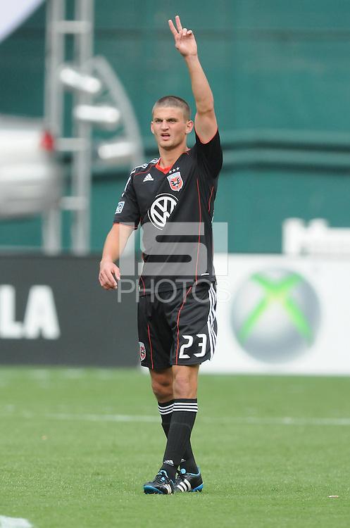 D.C. United defender Perry Kitchen (23) File photo RFK stadium 2011 season.