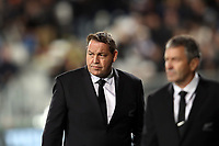 All Blacks coach Steve Hansen before the Rugby Championship match between the New Zealand All Blacks and South Africa Springboks at QBE Stadium in Albany, Auckland, New Zealand on Saturday, 16 September 2017. Photo: Shane Wenzlick / lintottphoto.co.nz