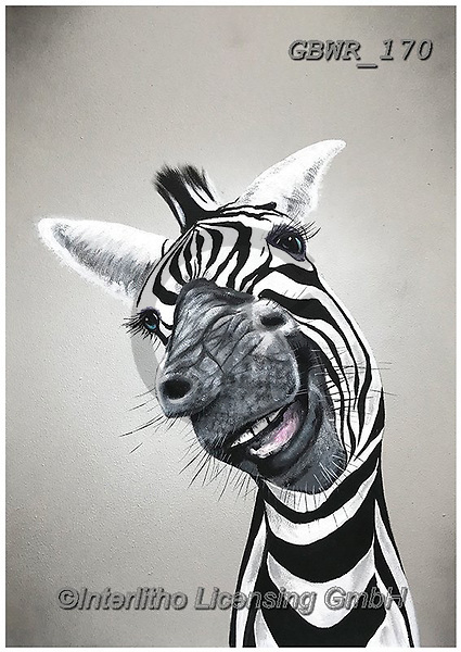 Simon, REALISTIC ANIMALS, REALISTISCHE TIERE, ANIMALES REALISTICOS, innovative, paintings+++++AdamBarsby_CheekyZebra,GBWR170,#a#, EVERYDAY