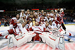 MILWAUKEE, WI - APRIL 8: The National Champion Wisconsin Badgers pose for their team photo after beating the Boston College Eagles during the NCAA Frozen Four Finals on April 8, 2006 at the Bradley Center in Milwaukee, Wisconsin. Wisconsin beat Boston College 2-1. (Photo by David Stluka)